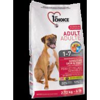 1st CHOICE Для взрослых собак всех пород С чувствительной кожей 15 кг