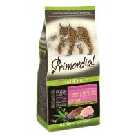 PRIMORDIAL Корм для котят Беззерновой Утка/индейка 2 кг
