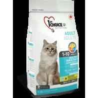 1st CHOICE Для взрослых кошек Здоровая шерсть и кожа 2,72 кг Лосось