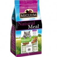 MEGLIUM ADULT Корм Для взрослых кошек Говядина/курица/овощи 1,5кг