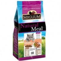 MEGLIUM ADULT Корм Для взрослых привередливых кошек Курица/индейка 1,5кг