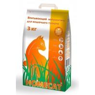 HOMECAT Впитывающий наполнитель 3 кг