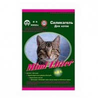 Mimi Litter Наполнитель силикагелевый для кошачьего туалета для котов (зеленые гранулы) 3,6л (1,8кг)