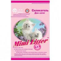 Mimi Litter Наполнитель силикагелевый для кошачьего туалета для котят (розовые гранулы) 3,6л (1,8кг)