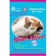 Mimi Litter Наполнитель силикагелевый для кошачьего туалета для кошек(голубые гранулы) 3,6л (1,8кг)