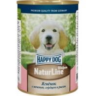 Happy Dog Консервы для щенков 400 гр Ягненок/печень/сердце/рис