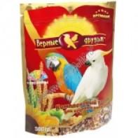 Верные друзья Корм для крупных попугаев с минералами 500 гр