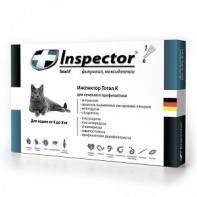 Inspector Капли от экто- и эндопаразитов Для кошек более 4 кг