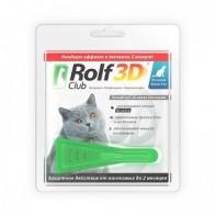 RolfClub 3D Капли от блох и клещей Для кошек более 4 кг