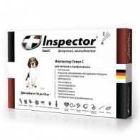Inspector Капли от экто- и эндопаразитов Для собак 10-25 кг