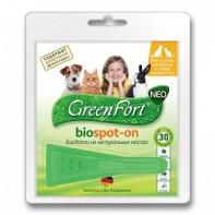 GreenFort neo Капли от блох и клещей Для кошек, кроликов и собак до 10кг