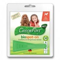 GreenFort neo Капли от блох и клещей Для собак до 10-25 кг