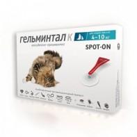 Гельминтал Капли от гельминтов, блох и клещей Для кошек более 4 кг
