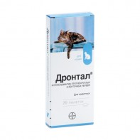 Антигельминтное таблетки для кошек BAYER «Дронтал» (04688)