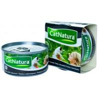 Cat Natura консервы для кошек тунец с кальмаром 85г СКИДКА 75%