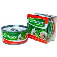 Cat Natura консервы для кошек тунец с красным морским окунем 85г
