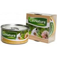 Cat Natura консервы для кошек тунец с креветками 85г