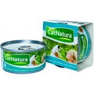 Cat Natura консервы для кошек тунец с камбалой 85г