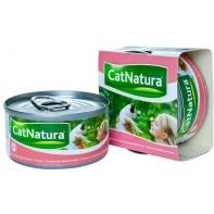 Cat Natura консервы для кошек тунец с тигровыми креветками 85г