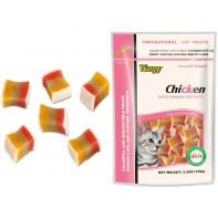 Wanpy Cat лакомство радужные кубики в форме сэндвича 80 г
