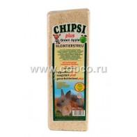 Chipsi Plus Green Apple АКЦИЯ Наполнитель древесный ароматизированный для грызунов 15л*1кг