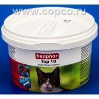 Беафар 13213 Top 10 Витамины д/кошек 180таб