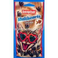 Беафар 12930 Malthearts д/кошек Сердечки для вывода шерсти из желудка 150шт