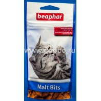 Беафар 12622 Malt-Bits Подушечки с мальт-пастой для вывода шерсти из желудка 35г*75шт