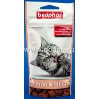 Беафар 12621 Malt-Bits Подушечки с мальт-пастой для вывода шерсти из желудка с Лососем 35г*75шт