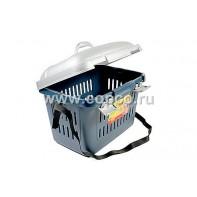 I.P.T.S. 715036 Переноска пластиковая Midi голубая 45*33*33см