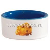 I.P.T.S. 801630 Миска керамическая с изображением хомяка, голубая 120мл*7,5см
