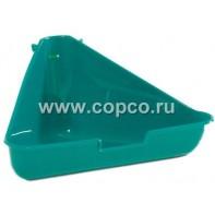 I.P.T.S. 810897 Туалет д/грызунов угловой, зеленый цвет 35*20*17см