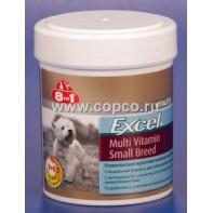 8 в 1 109372 Excel Multi Vitamin Small Breed Комплексная мультивитаминная добавка д/собак мелких пород 70таб
