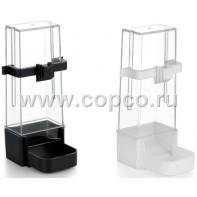 I.P.T.S. 015668 Кормушка/Поилка для крупных попугаев черная 6*15см
