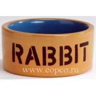 I.P.T.S. 801482 Миска керамическая д/кролика бежево-голубая 11,5см