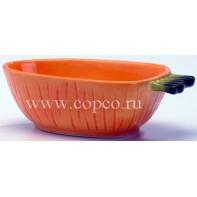 **I.P.T.S. 801693 Миска керамическая д/грызунов  Морковка  20*11*6см