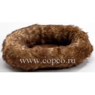 **I.P.T.S. 810945 Лежанка д/грызунов  Polar  с мехом коричневая 31*26см