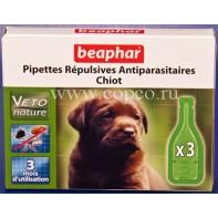 Беафар 15611 БиоКапли д/щенков от блох и клещей 3пипетки