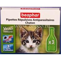 Беафар 15615 БиоКапли д/котят от блох и клещей 3пипетки