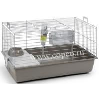 **I.P.T.S. 266883 Deluxe Клетка д/кролика серебристо-серая 80*50*44см