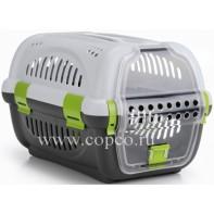 I.P.T.S. 715010 Переноска для транспортировки животных серо-зеленая 51*34,5*33см
