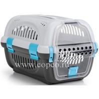 I.P.T.S. 715011 Переноска для транспортировки животных серо-синяя 51*34,5*33см