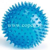 **I.P.T.S. 620925 Игрушка д/собак  Мяч игольчатый  голубой, TPR 12,5см