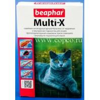 Беафар 13190 Ошейник Multi-X д/кошек от наружных и внутренних паразитов 30см