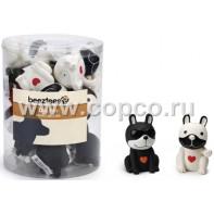 Beeztees 620429 Набор игрушек д/собак  Собачки латексные  9см (туба)