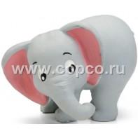 Beeztees 621059 Игрушка д/собак  Слоник  серый, латекс 9см
