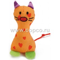 Beeztees 440541 Игрушка д/кошек  Рыжий котик  текстиль 8см