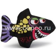 Beeztees 440555 Игрушка д/кошек  Зубастая акула  текстиль 7,5см