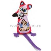Beeztees 440556 Игрушка д/кошек  Мышонок с сыром  текстиль 19см