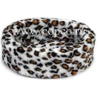 Beeztees 705770 Лежак д/собак  Teddy  леопардовый 40см